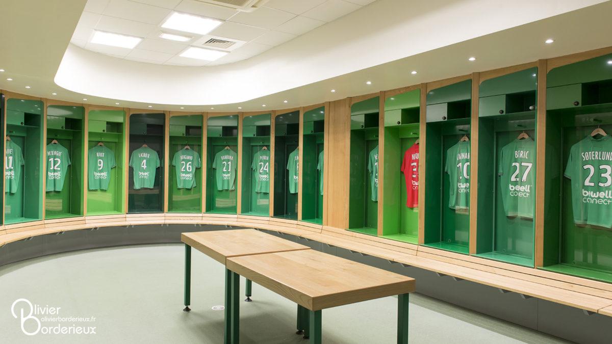 Stade Geoffroy Guichard - Les vestiaires des Verts