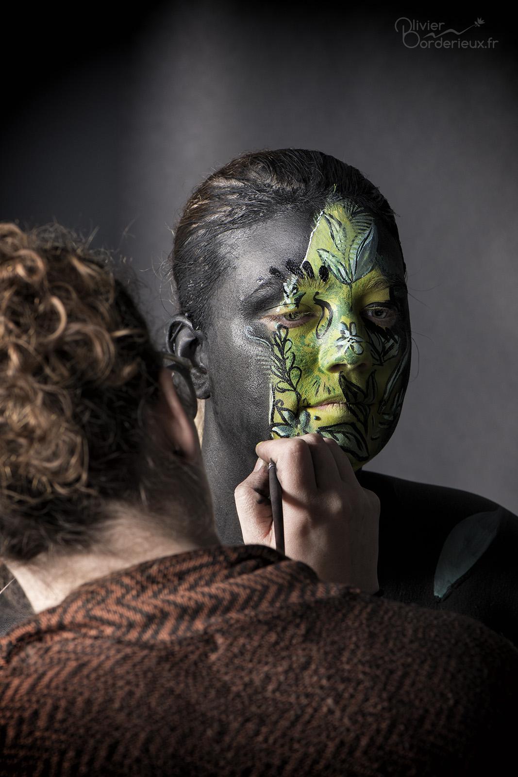 Séance bodypainting en studio